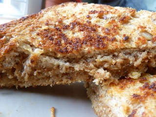 Grilled Peanut Butter and Honey Sandwich