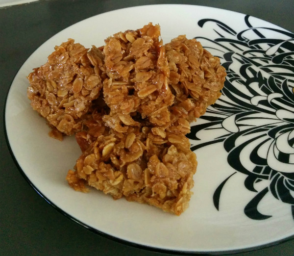 Oat and honey flapjacks