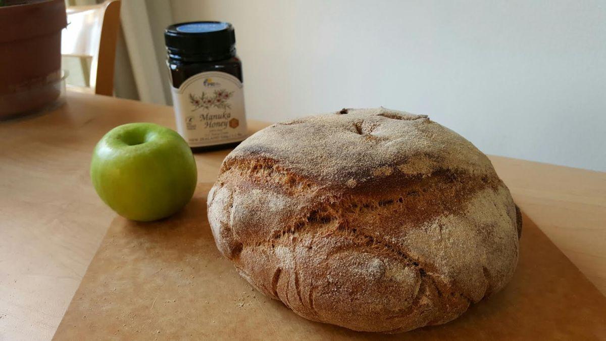 Manuka Honey Whole-Wheat Sourdough Ciabatta Bread