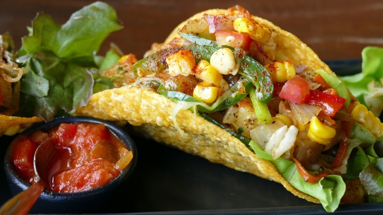 Vegetarian Tacos with Chipotle BBQ Pacific Sea Salt