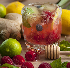 Stay Hydrated with Fruit Infused Water.