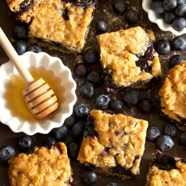 Honey Blueberry Oatmeal Bars