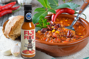 Bowl of Chili with Fiji Fire