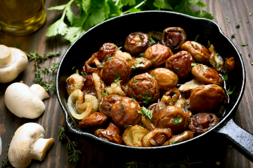 Balsamic Honey Mushrooms