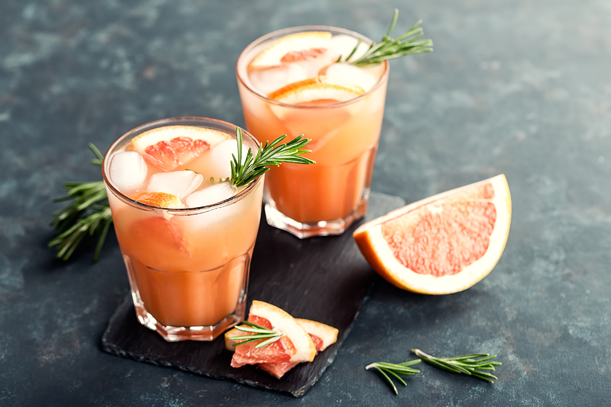 Grapefruit Manuka Honey Margaritas